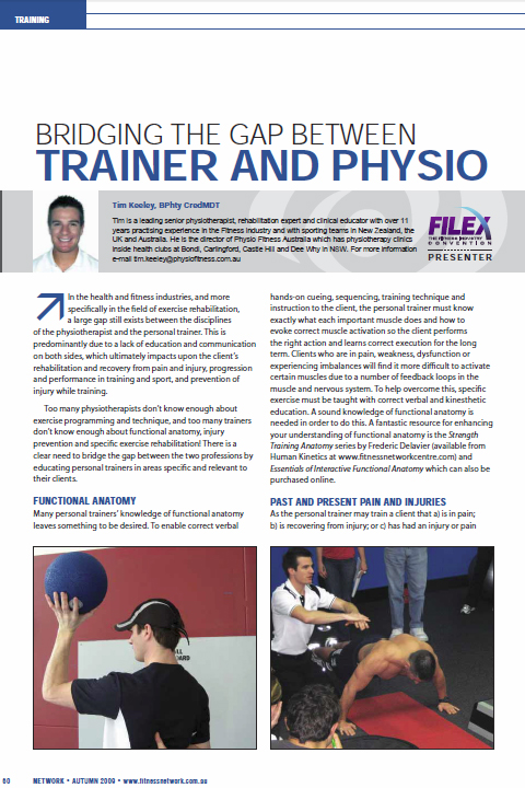 Bridging the Gap between Trainer and Physio