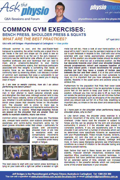 Common Gym Exercises: Bench Press, Shoulder Press & Squat - What are the Best Practices/articles.htm#sthash.MrmNQO63.dpuf