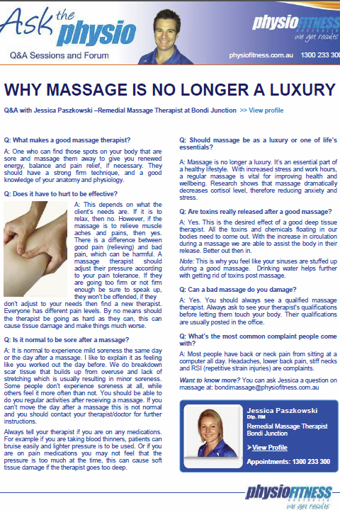 Why Massage Is No Longer a Luxury