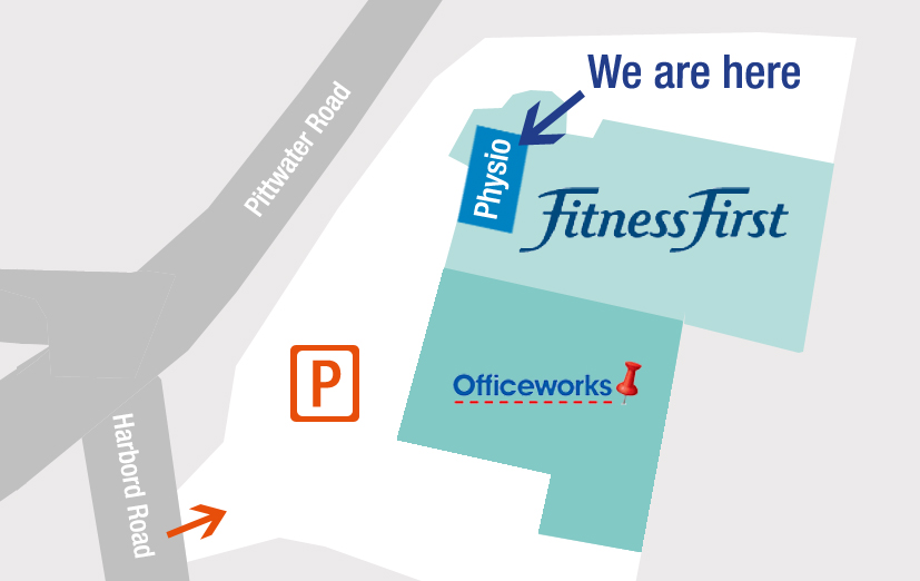 Map of Physio Fitness Dee Why, 800 Pittwater Road, Dee Why, on the Northern Beaches of Sydney